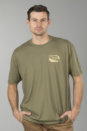 T-Shirt MSR Bar Logo Army