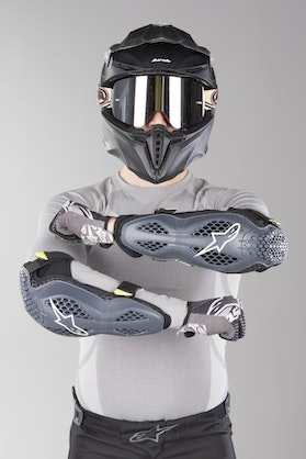 Alpinestars Sequence Elbow Protection Anthracite-FlouYellow