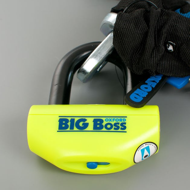 Oxford BIG Boss Lock Package with Padlock + 12 mm Chain