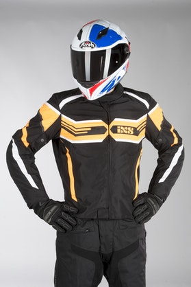 IXS Sport RS-400-ST Jacket Black-Orange-White
