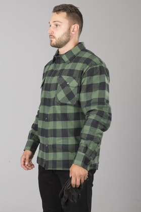 Course Aramid Reinforced Flannel Shirt Black-Green