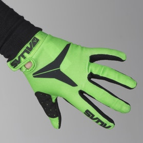 Alias AKA Solid Youth Motocross Gloves Neon Green