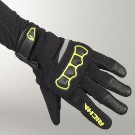Rękawice Richa Spyder Czarno-Fluorescencyjno Żółte