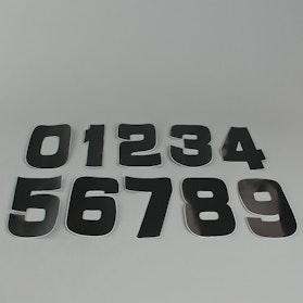 Naklejki cyfry 9cm, czarne z tworzywa PVC