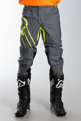 Acerbis Carbon Titan Flex MX Trousers Grey-Yellow Fluo