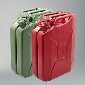 Never Stop Sheet Metal Jerry Can 20L