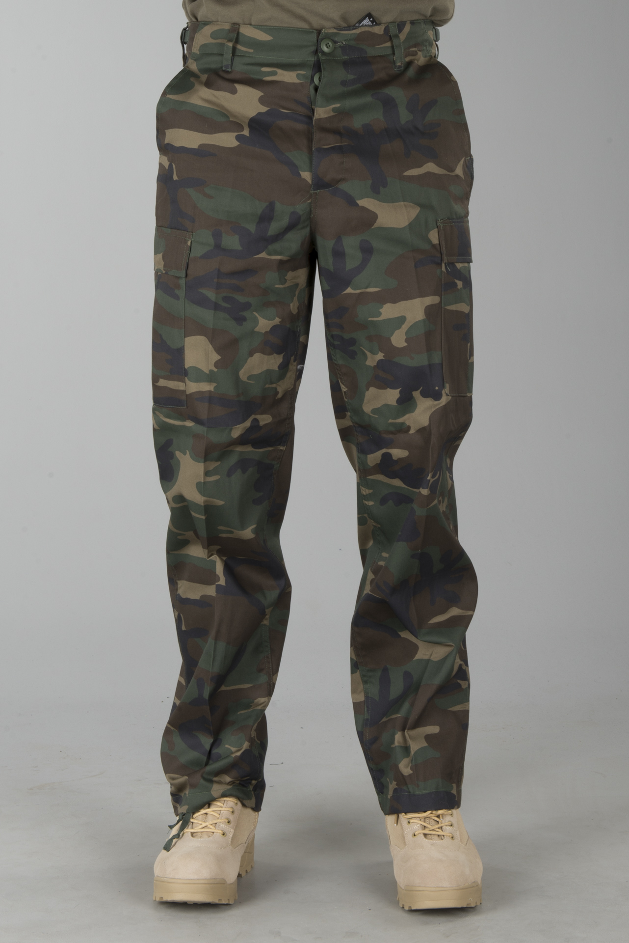 Bukser Brandit US Ranger Woodland, Grøn Militær