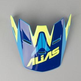 Daszek do Kasku Alias UC1 Żółty Neon-Niebieski Jeden Rozmiar
