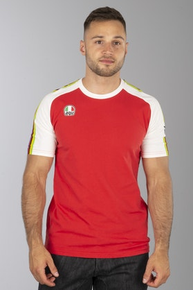 T-Shirt Dainese Ago-1 Biało-Czerwony