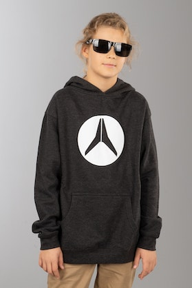 Alias Circled Charcoal Heather Kid's Hoodie