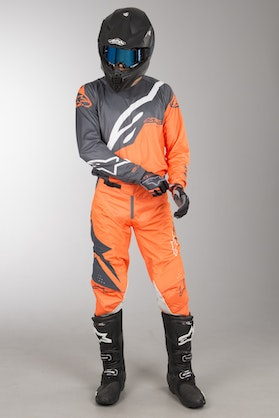 Alpinestars Techstar Factory MX Clothing Kit Anthracite-Orange Fluo