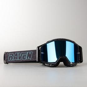 Gogle Cross Raven Sniper Podwójne Soczewki Deep Space Niebieska Lustrzanka