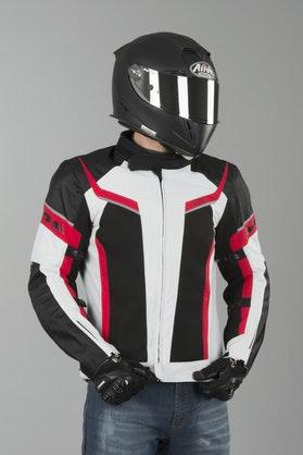 IXS Ashton Jacket Grey-Black-Red