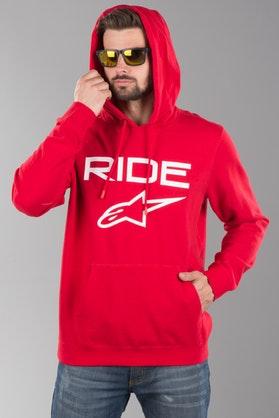 Bluza z Kapturem Alpinestars Ride 2.0 Czerwono-Biała