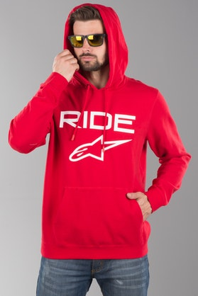 Hættetrøje Alpinestars Ride 2.0, Rød/Hvid