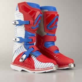 Støvler Acerbis Shark Junior, Rød/Blå