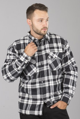 Course Aramid Reinforced Flannel Shirt Black-White