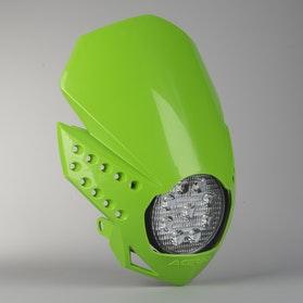Acerbis LED Fulmine Front Lamp Greem