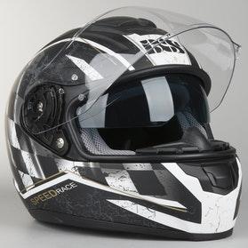 Kask IXS HX 215 Speed Race Czarno-Biały