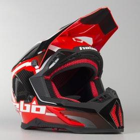 Kask Hebo Enduro Legend Carbon Czerwony