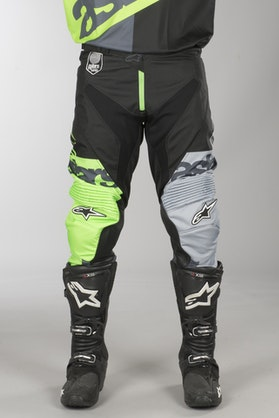 Alpinestars Racer Flagship MX Pants Flourescent Green-Anthracite-Black