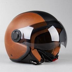 RXA California H730 Open Helmet Brown