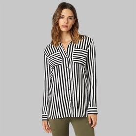 Fox Jail Break Ls Shirt Black-White Womens