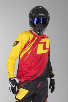 OneIndustries Vapor Lite Side Swipe Motocross Jersey Red-Black