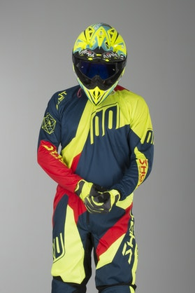Shot Devo Alert MX-Jersey Blue-Red-Neon Yellow