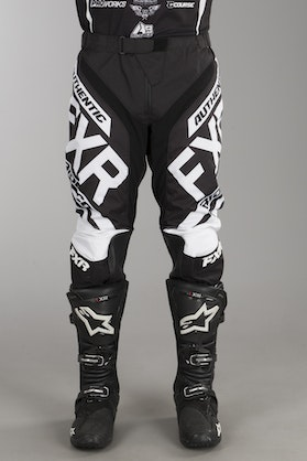 FXR Clutch Retro MX Pants 36 Black-White
