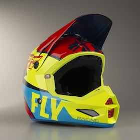 Kask Cross FLY Elite Guild Czerwono-HiVis