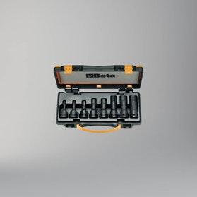 Komplet 8-miu nasadek udarowych z końcówką trzpieniową sześciokątną Beta Tools