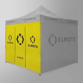Pawilon Wyścigowy XLMoto Żółty Ściana i Drzwi