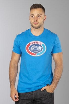 T-Shirt Dainese Moto 72 Niebieski Aster