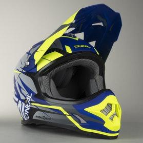O'Neal 3-Series Freerider Fidlock Helmet Blue-HiVis