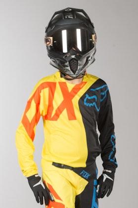 Bluza Cross Fox 360 Preme Dziecięca Czarno-Żółta MX 18