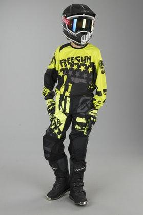 Motokrosové Oblečení Dětský Model Freegun Nerve Neonová Žlutá