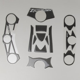 Naklejka na koronę widelca OneDesign Carbon Kawasaki