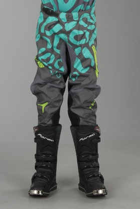 Alias A2 Cheetah Children's MX Pants Grey-Seafoam Green