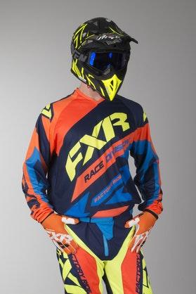 Bluza Cross FXR Clutch Granatowo-Electric Pomarańczowo-Niebieska-HiVis