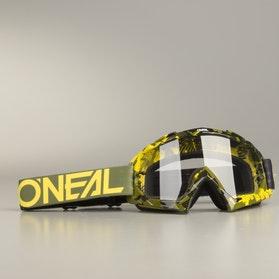 Crossové Brýle O'Neal B-10 Pixel HiViz-Zelená