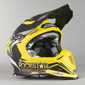 Kask Cross Just1 J12 Rockstar 2.0 Czarno-Żółty