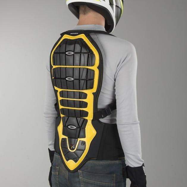 46a2365fc Spidi Warrior 180-195 Back Protector Black-Yellow
