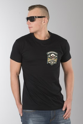 T-Shirt West Coast Choppers Hipster Hunters Solid Czarny