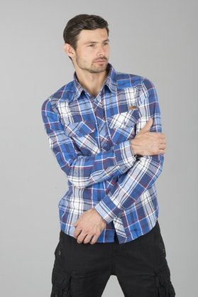 Brandit Checkshirt Shirt - Navy