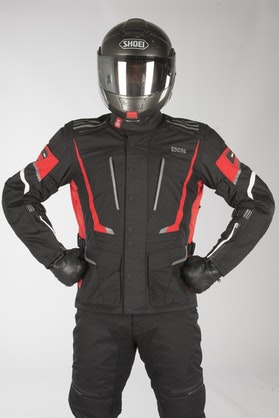 IXS Tour Powells-ST Jacket Black-Red-White