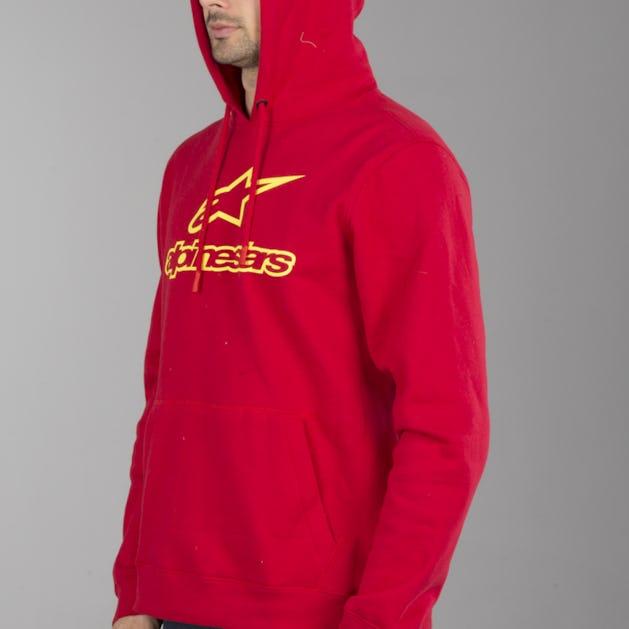 Alpinestars Always Hoodie Red-Yellow