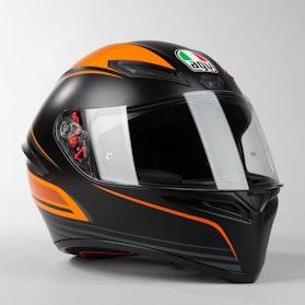 Kask Motocyklowy AGV K1  Czarny Pomarańczowy