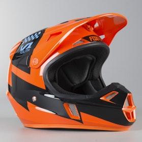 Motokrosová Helma Dětská Fox V1 Mastar Oranžová