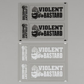 OneDesign Violent Bastard Stickers 150x116mm